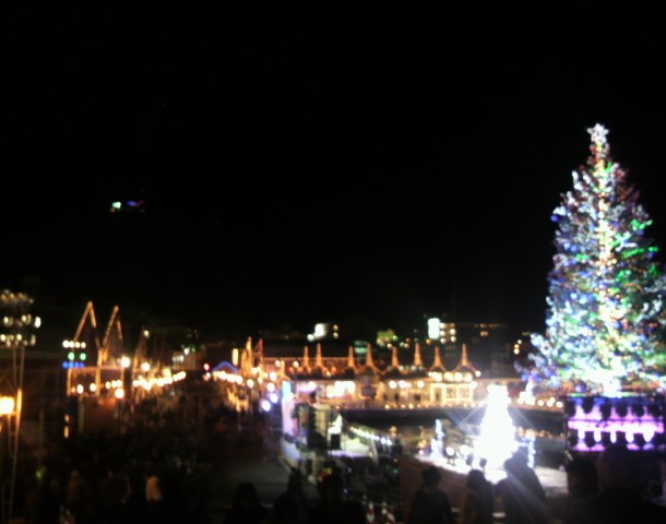はこだてクリスマスファンタジー橋から